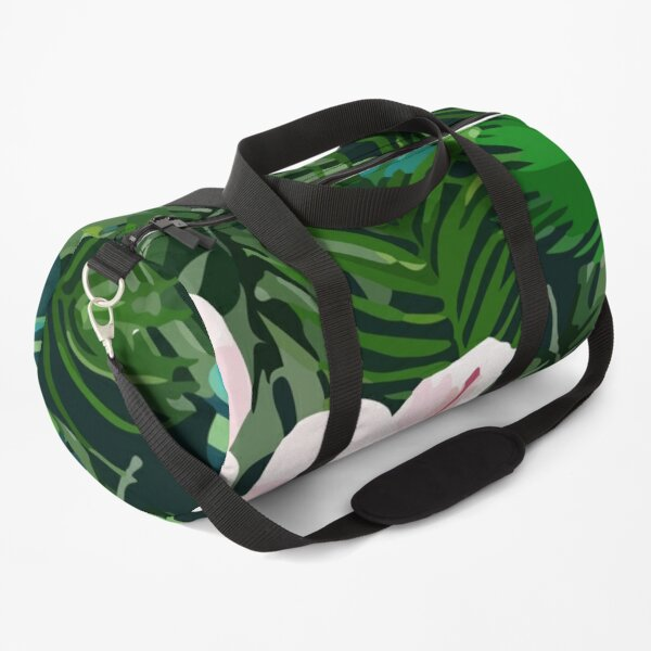 Bright tropical background Duffle Bag