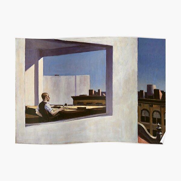 Büro in einer kleinen Stadt - Edward Hopper (1953) Poster