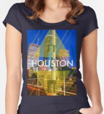 Houston Rockets Print Tee Women's Fitted Scoop T-Shirt