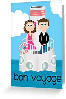 Bon voyage greeting cards by emma holmes redbubble bon voyage greeting cards by emma holmes redbubble m4hsunfo