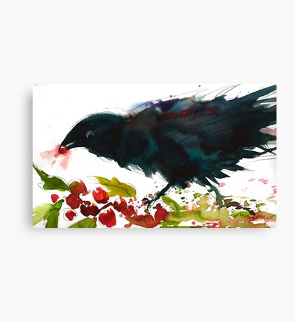 Christmas Crow Canvas Print