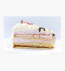 Strawberry Cream Cake Photographic Print