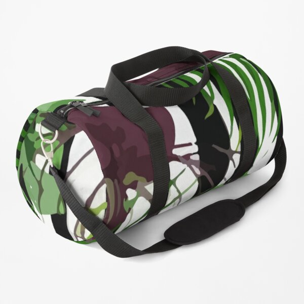 Exotic jungle with monstera palm leaves Duffle Bag