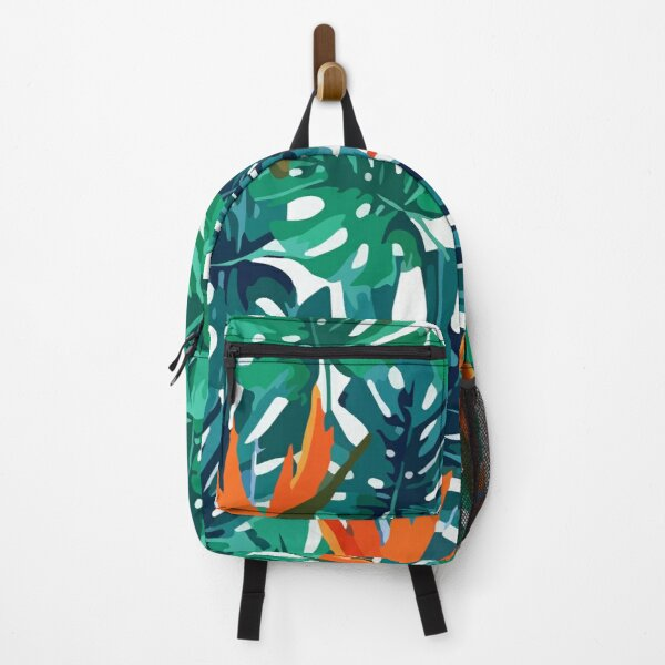 Exotic tropical background Backpack