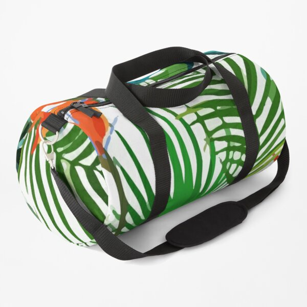 Exotic tropical palm leaves pattern Duffle Bag