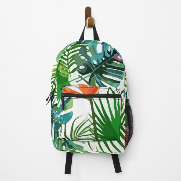 Exotic tropical palm leaves pattern Backpack