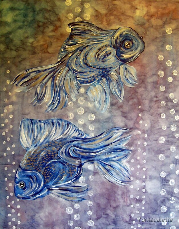 Big Blue Fish Greeting Cards By Yorkspalette Redbubble