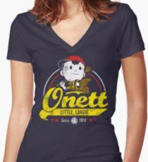 Onett little league Tailliertes T-Shirt mit V-Ausschnitt