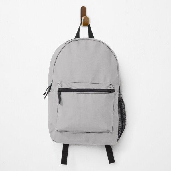 Grey Fog Solid Summer Party Color Backpack