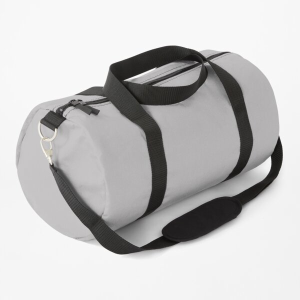 Grey Fog Solid Summer Party Color Duffle Bag
