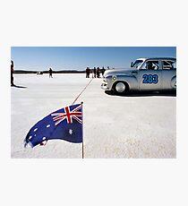 1954 FJ Holden on the salt Photographic Print