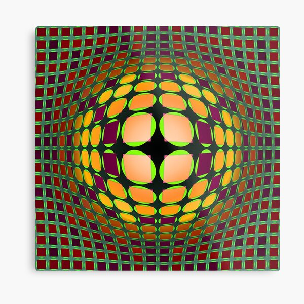 Victor Vasarely Homage 93 Metal Print