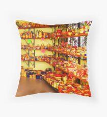 Colourful souvenirs Throw Pillow