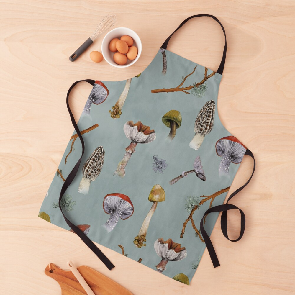 Mushroom Forest Collecting Party Apron