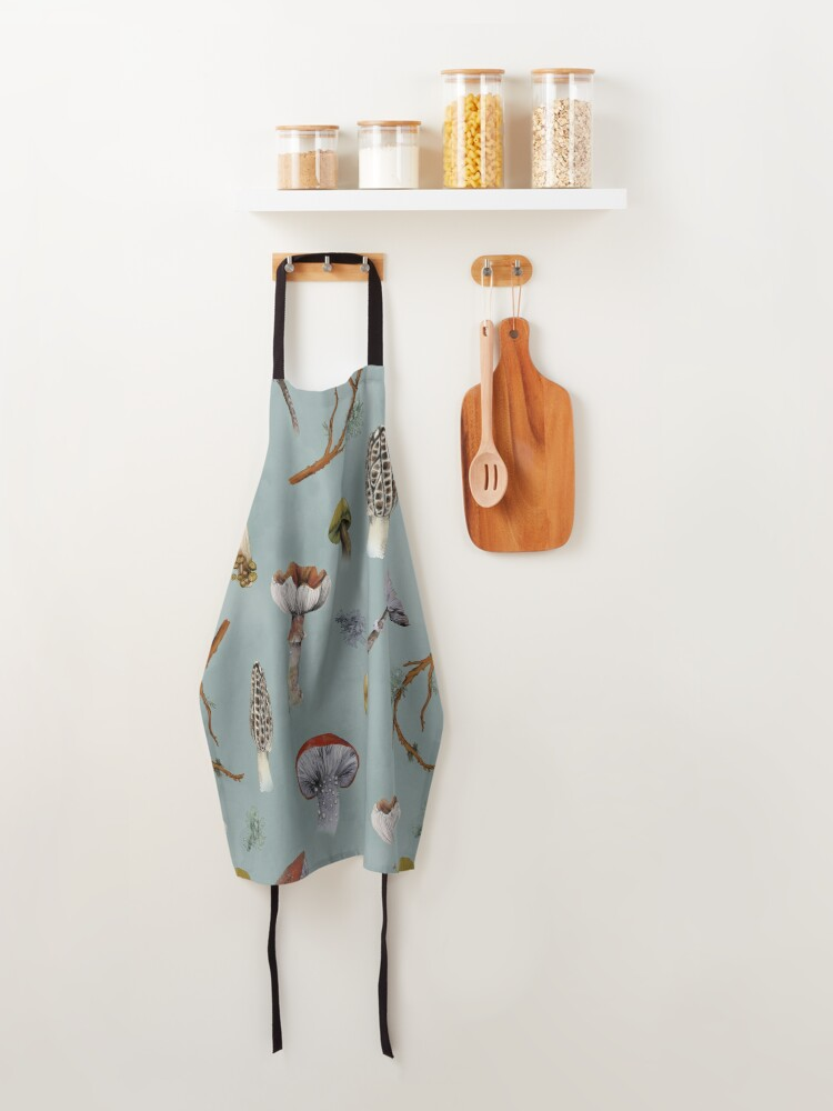 Alternate view of Mushroom Forest Collecting Party Apron
