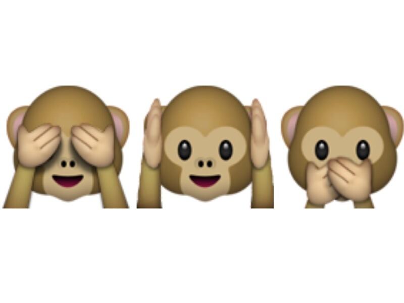 "Bien connu Emoji - See No Evil, Hear No Evil, Speak No Evil"" Stickers by  SG53"