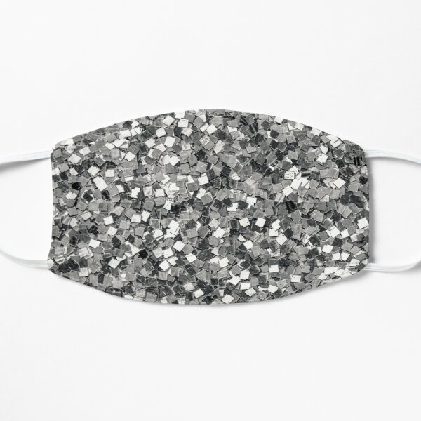Sequins glitter diamond mask in silver ice fire Mask