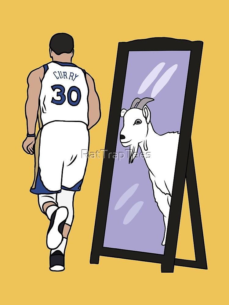 Steph Curry Mirror GOAT by RatTrapTees