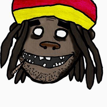Gorilaz con estilo rastafari de herbertron