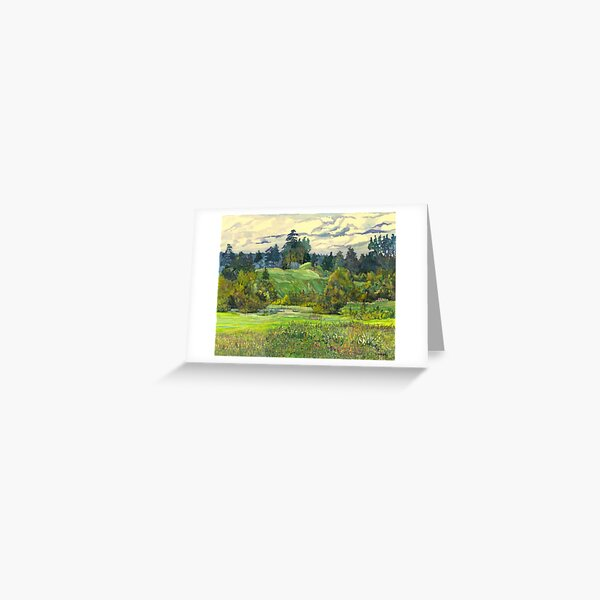 Pines painting  watercolor  Greeting Card