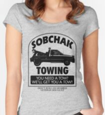 The Big Lebowski Inspired - Sobchak Towing - You Want a Toe? Women's Fitted Scoop T-Shirt