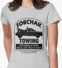 The Big Lebowski Inspired - Sobchak Towing - You Want a Toe? Women's Fitted T-Shirt