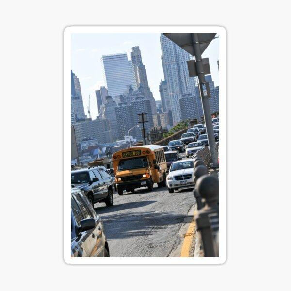 Yellow School Bus New York  Sticker
