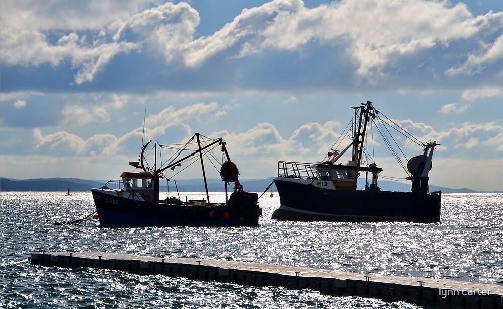 Fishing Boats At Lyme, Dorset. UK by lynn carter