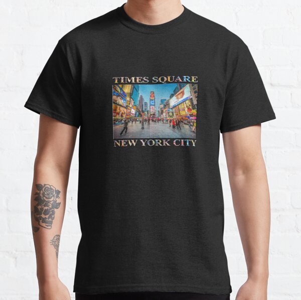 Times Square Sparkle (poster on black) Classic T-Shirt