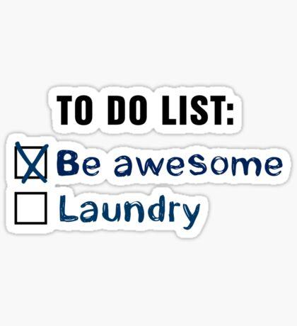 Laundry shirt. Sticker
