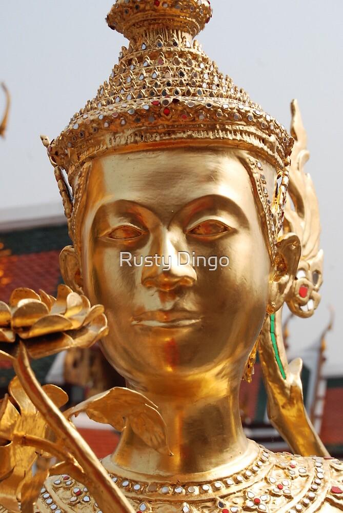 Gold Buddha Head  by Leanne Christmas