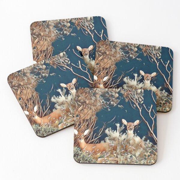 Woodland Friends Coasters (Set of 4)