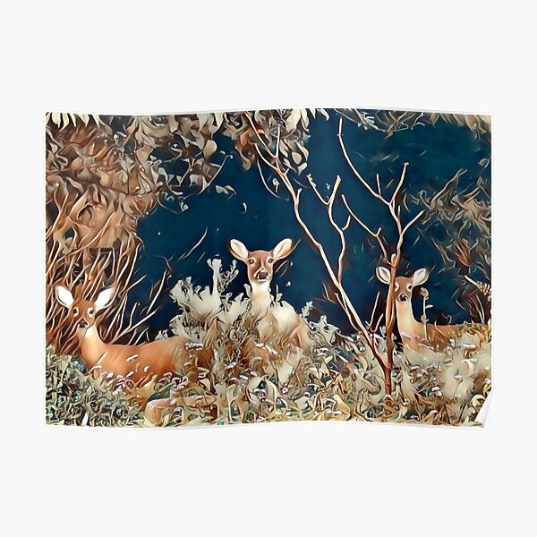 Woodland Friends Poster