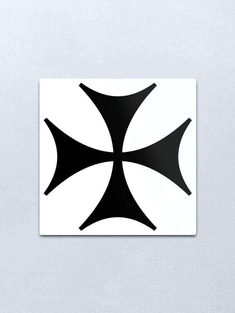 Alternate view of Bolnisi cross, Maltese cross Metal Print
