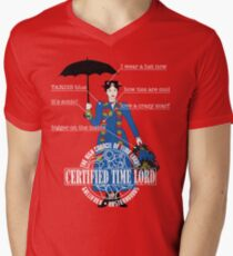 Mary Poppins is a Time Lord Men's V-Neck T-Shirt