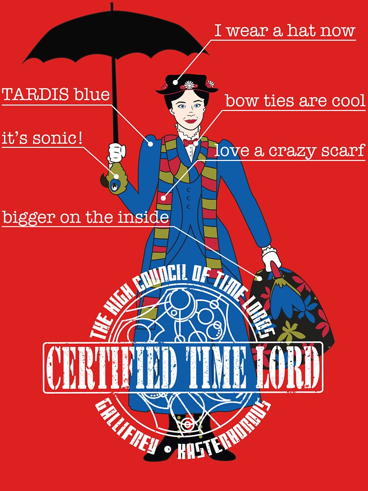 Mary Poppins is a Time Lord | Women's T-Shirt