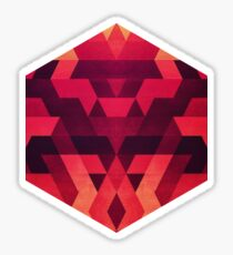 Abstract red geometric triangle texture pattern design (Digital Futrure - Hipster / Fashion) Sticker