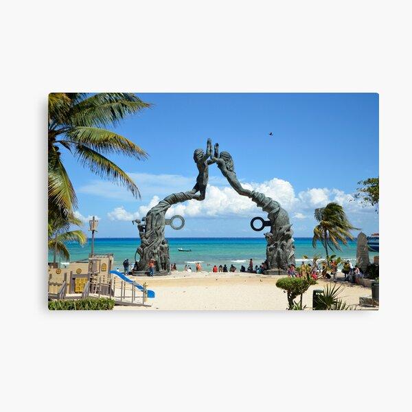 Playa del Carmen Cancún Estatua Escena de playa Lienzo
