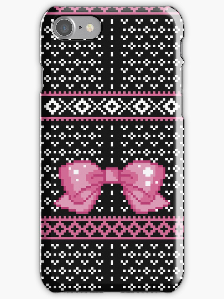 8bit Fair Isle Bow by ZoeTwoDots