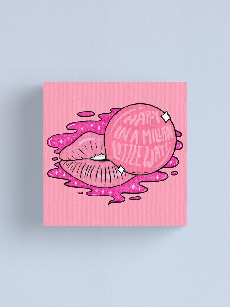 Alternate view of Bubble Gum Lips Canvas Print