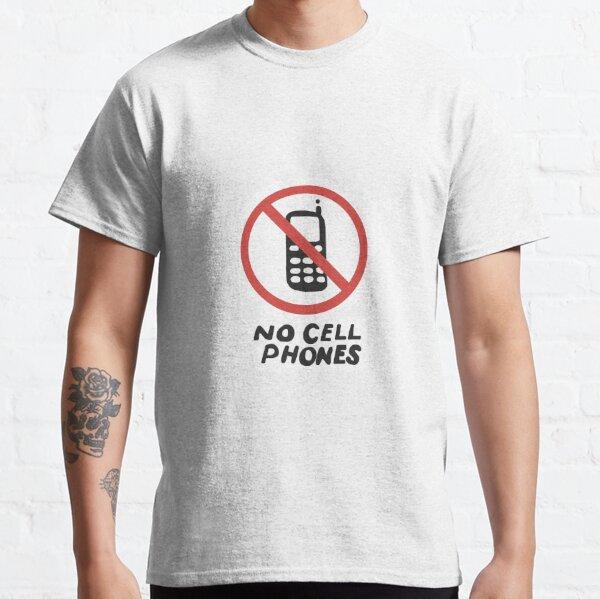 Lukes aucun signe de téléphones portables T-shirt classique