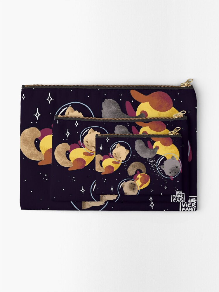 Alternate view of Space Cats Zipper Pouch