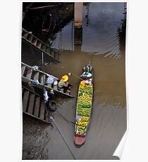 Floating Market Fruit Seller, Thailand Poster