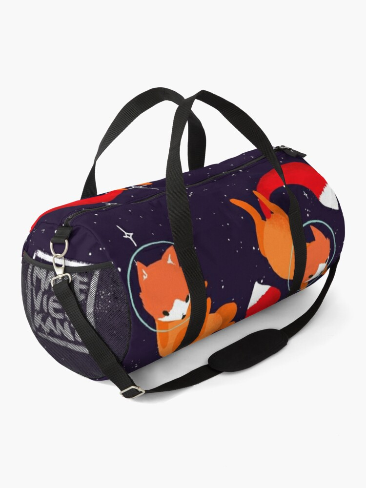 Alternate view of Space Foxes Duffle Bag