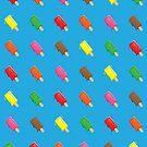 Cute Popsicle Cartoon Pattern by thejoyker1986