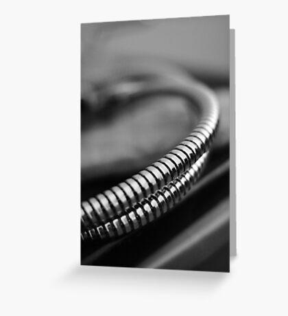 Metallic Cord  Greeting Card