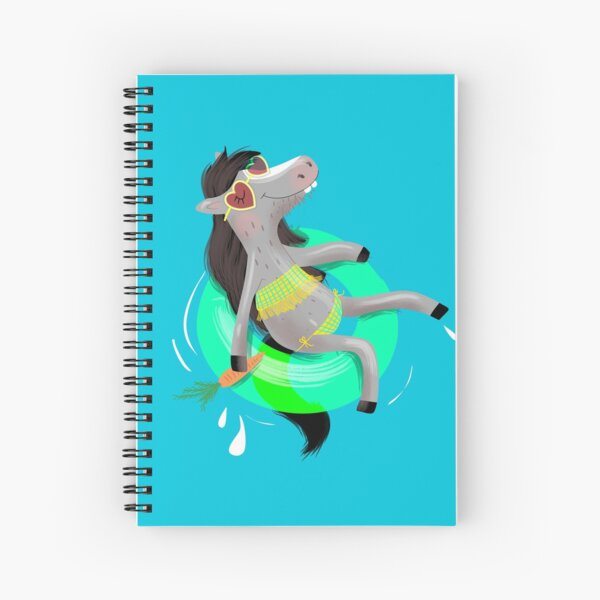 Horse with swimming tires Spiral Notebook