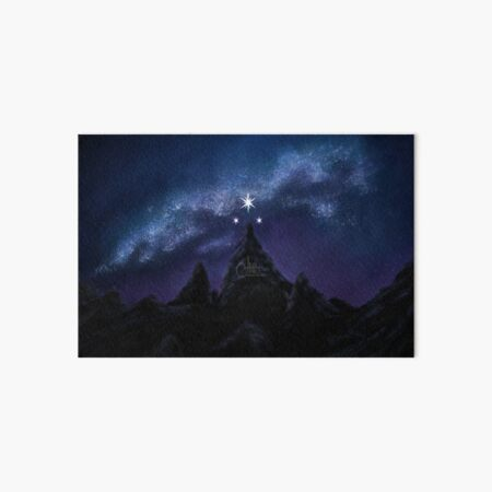 Velaris Night Sky Galaxy Painting   the Night Court   A Court of Dreams  Wall Decor  Galaxy Painting