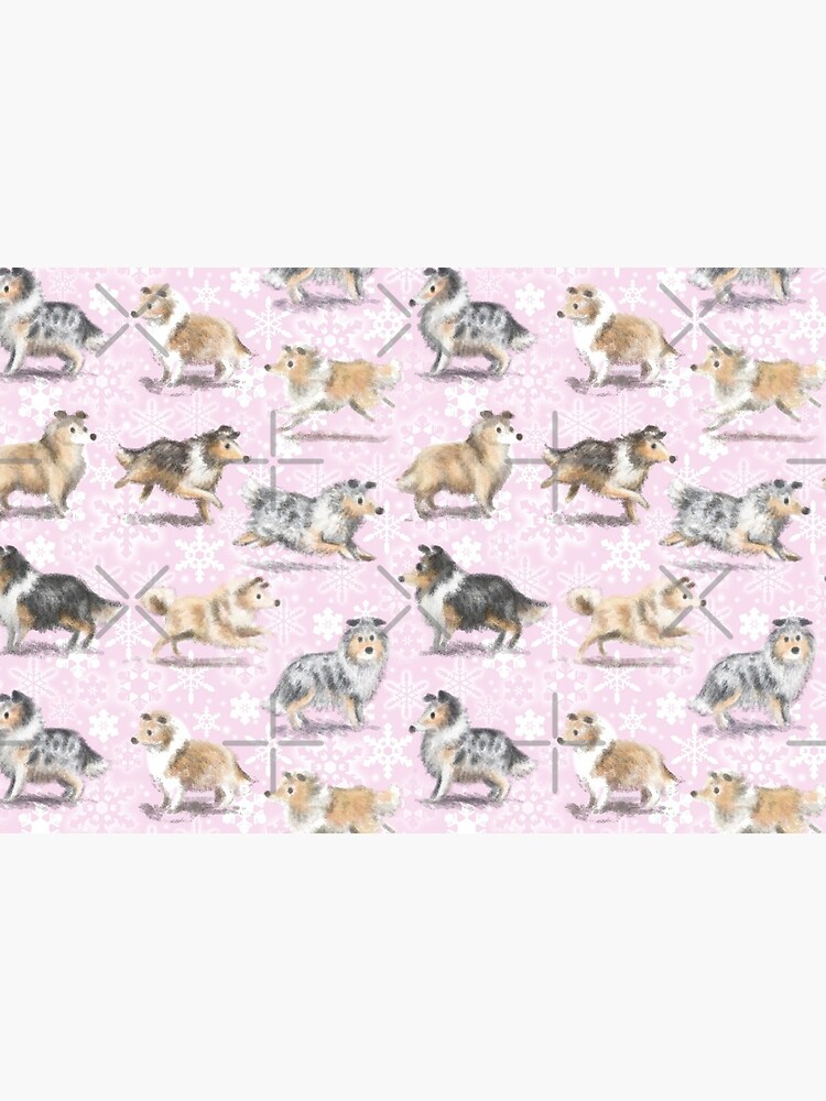 The Christmas Rough Collie (Pink) by elspethrose