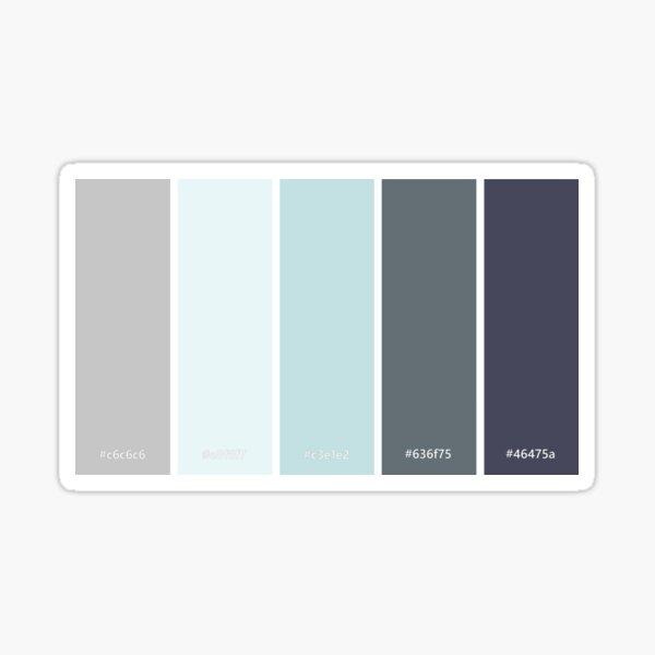 Winter - Color palette Sticker